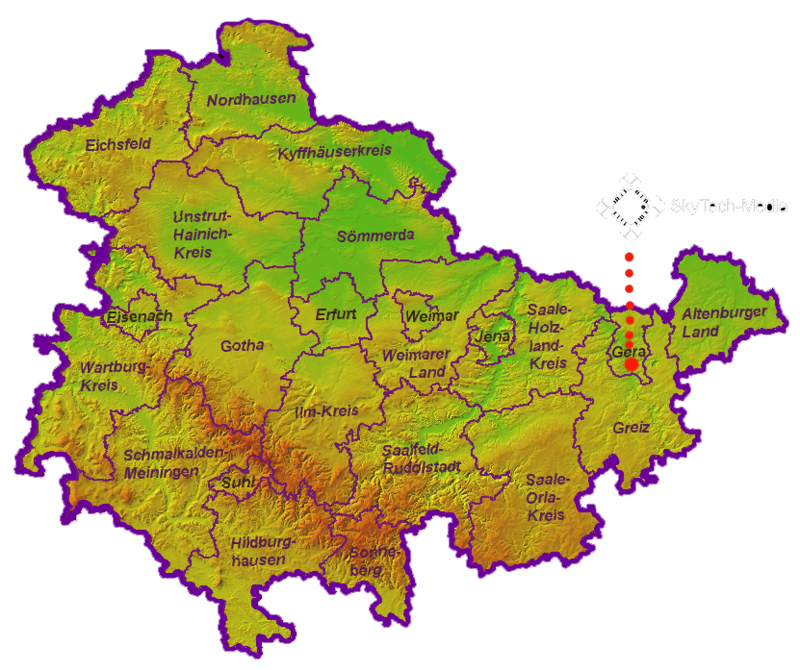 Map of Thuringia