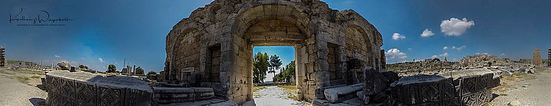 City gate of the ancient city of Perge
